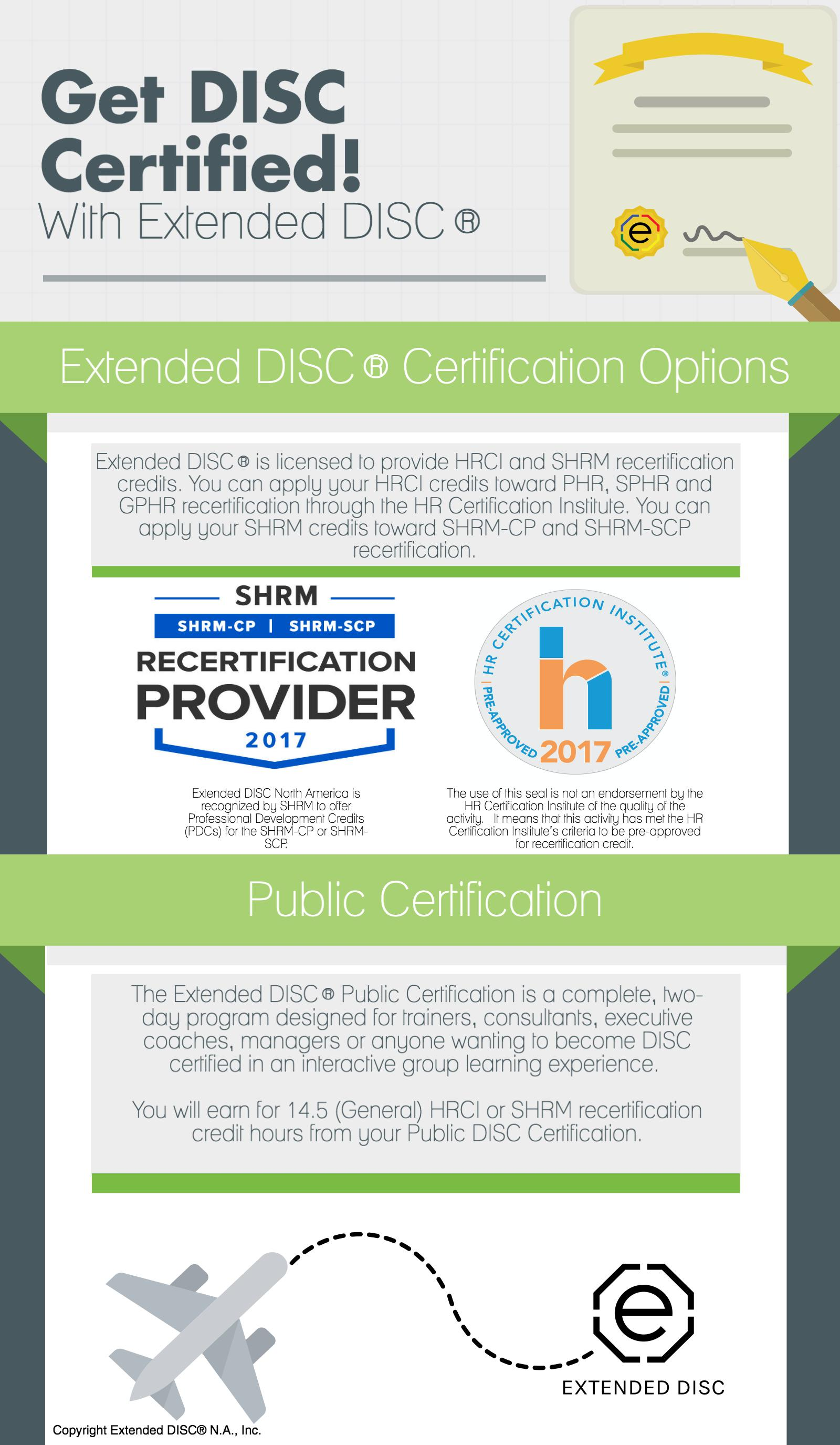 Get Disc Certified With Extended Disc Upcoming Opportunities