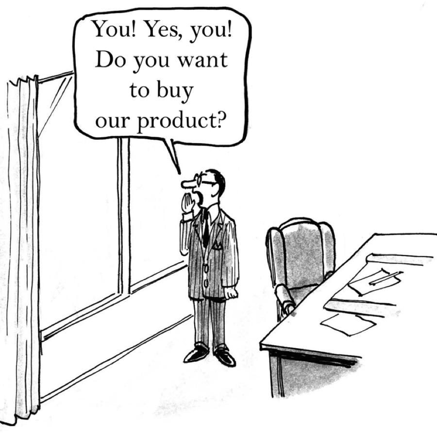 Do you want to buy? cartoon