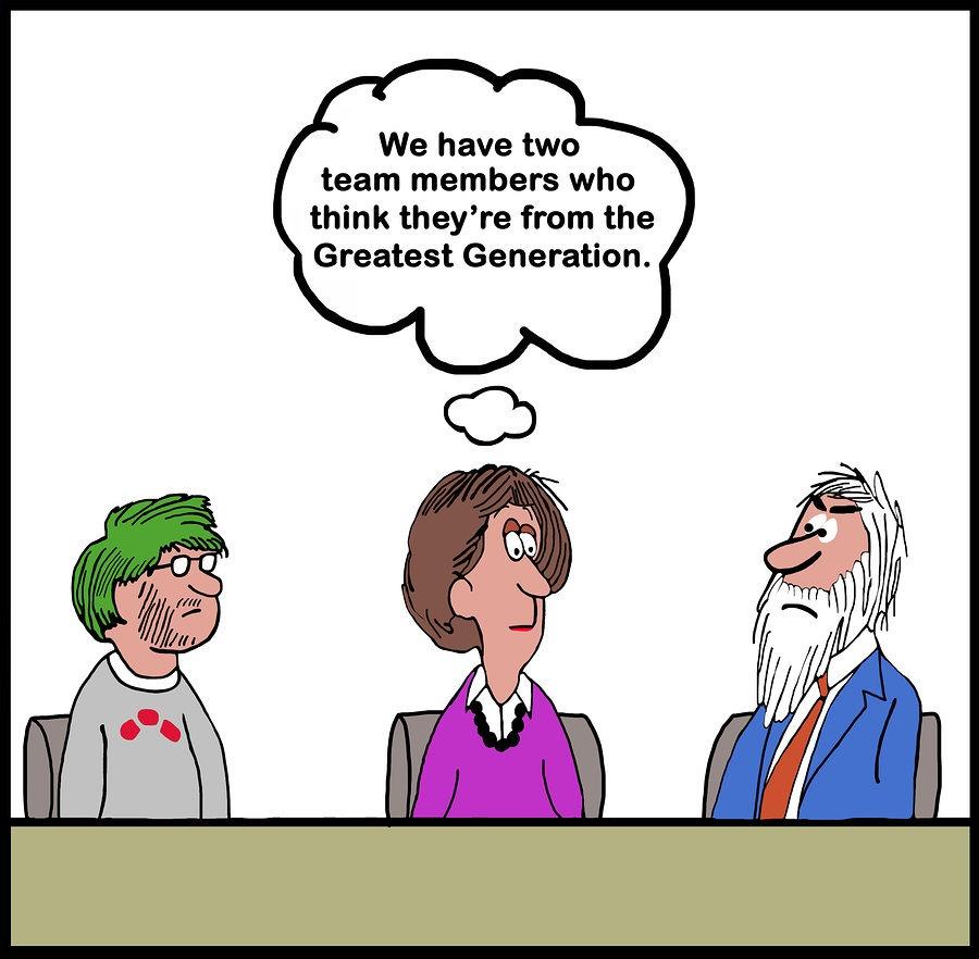 Generations in team comic