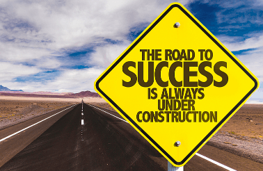 Road to Success road sign