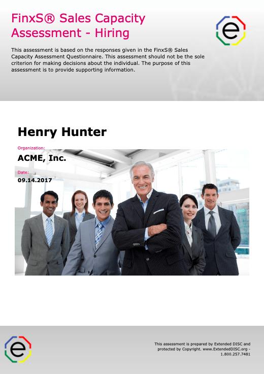 FinxS Sales Capacity Assessment: Hiring Report