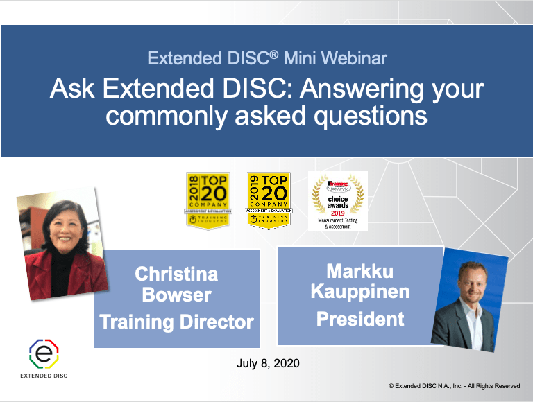 Webinar Ask Extended DISC